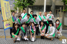 We took a group photo in front of Tamachi Station. Thank you all for your hard work!