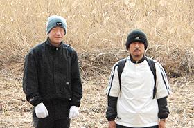 左:吉上さん「皆様に喜ばれるなら休日を利用してまた参加したいです。」