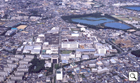 Itami Works (center) and Koya Pond (upper right)