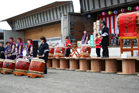 Members of Hokkai Warabe Taiko