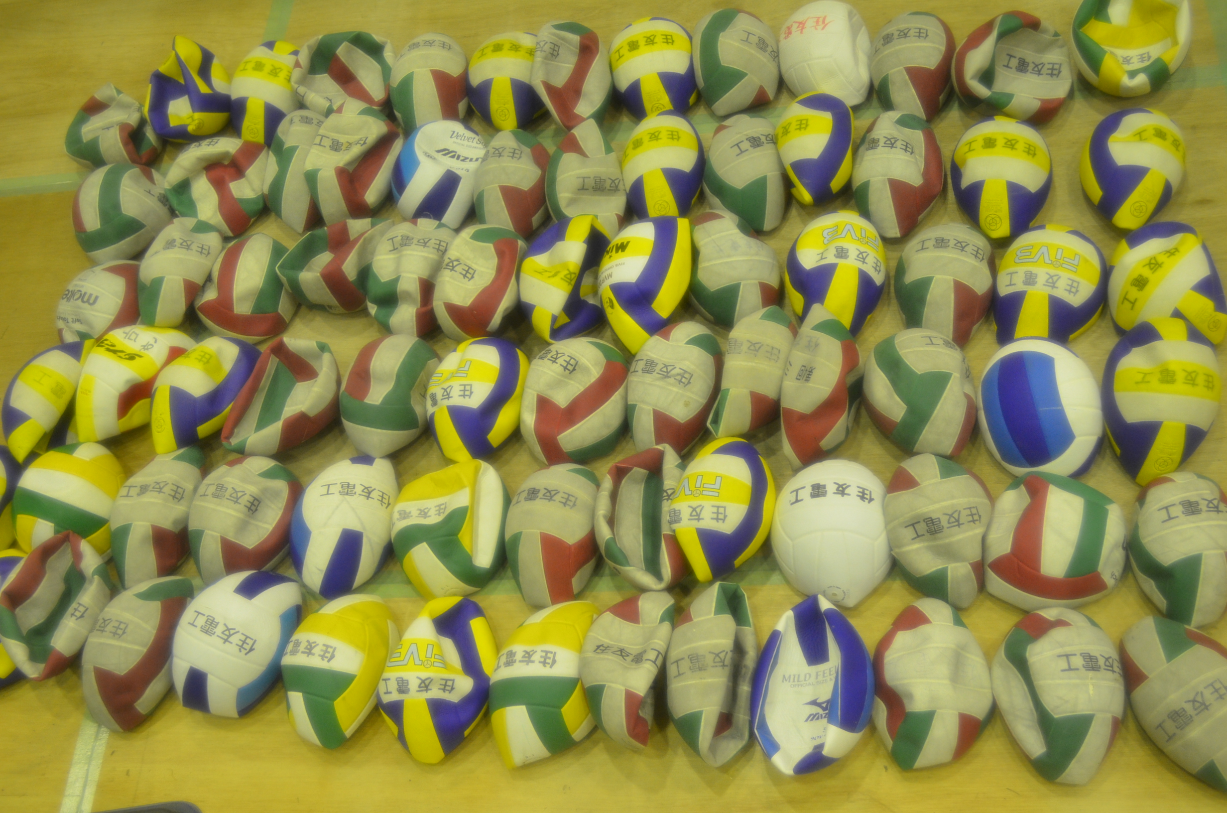 Donated volleyballs